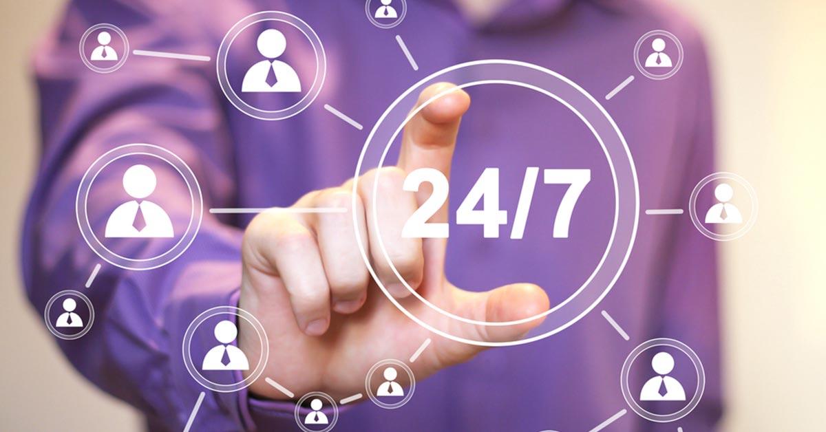 24x7 social media presence