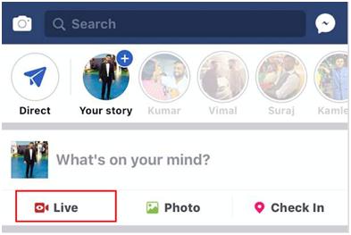 facebook live step 1