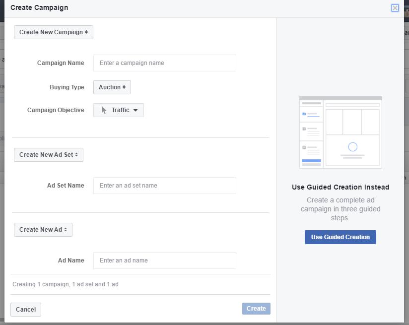 facebook messenger ad campaign setup