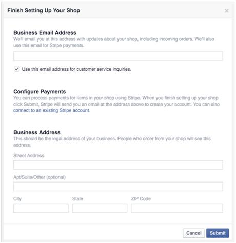 set facebook shop payment